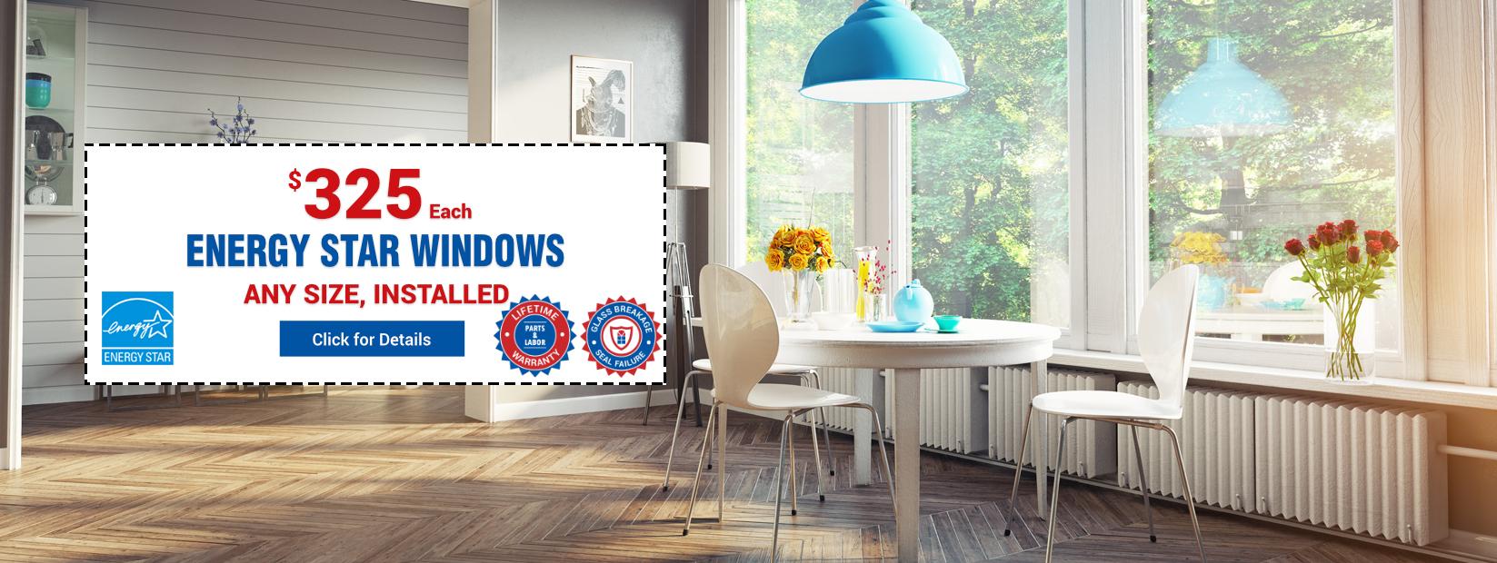 Energy Star Windows Installed